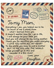 """Everything I Am U Helped Me To Be Daughter To Mom Fleece Blanket - 50"""" x 60"""" front"""