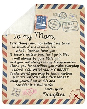Everything I Am U Helped Me To Be Daughter To Mom Sherpa Fleece Blanket tile