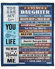"""Believe Deep In Your Heart Dad To Daughter Fleece Blanket - 50"""" x 60"""" front"""