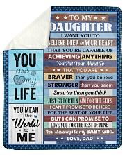 Believe Deep In Your Heart Dad To Daughter Sherpa Fleece Blanket tile