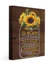 You Are My Sunshine Mom To Son 11x14 Gallery Wrapped Canvas Prints front
