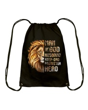 Lion Man Of God husband Step-Dad Hero Drawstring Bag thumbnail