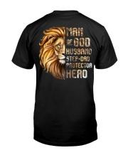 Lion Man Of God husband Step-Dad Hero Classic T-Shirt back