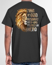 Lion Man Of God husband Step-Dad Hero Classic T-Shirt garment-tshirt-unisex-back-04