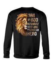 Lion Man Of God husband Step-Dad Hero Crewneck Sweatshirt thumbnail