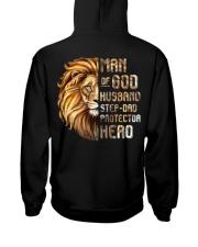 Lion Man Of God husband Step-Dad Hero Hooded Sweatshirt thumbnail
