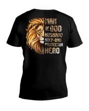 Lion Man Of God husband Step-Dad Hero V-Neck T-Shirt thumbnail