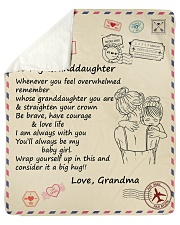 """Granddaughter Be Brave Have Courage And Love Life Sherpa Fleece Blanket - 50"""" x 60"""" thumbnail"""