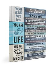 Personalized Never Forget I Love You To Boyfriend 11x14 Gallery Wrapped Canvas Prints front