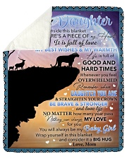 """Inside Blanket There's A Piece Mom To Daughter Sherpa Fleece Blanket - 50"""" x 60"""" thumbnail"""