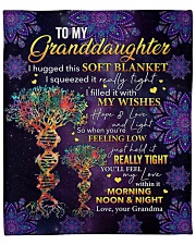 "I Hugged This Soft Blanket Gm To Granddaughter Fleece Blanket - 50"" x 60"" front"