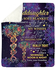 "I Hugged This Soft Blanket Gm To Granddaughter Sherpa Fleece Blanket - 50"" x 60"" thumbnail"