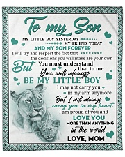 "I Love U More Than Anything In The World Mom-Son Fleece Blanket - 50"" x 60"" front"