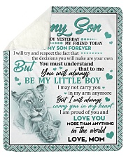 "I Love U More Than Anything In The World Mom-Son Sherpa Fleece Blanket - 50"" x 60"" thumbnail"