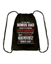I'm The Best Bonus Dad Drawstring Bag thumbnail