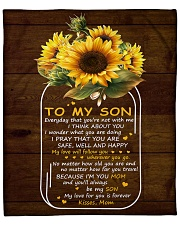 """My Love For U Is Forever Sunflower Mom To Son Fleece Blanket - 50"""" x 60"""" front"""
