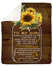 "My Love For U Is Forever Sunflower Mom To Son Sherpa Fleece Blanket - 50"" x 60"" thumbnail"