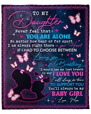 """Never feel that You are alone Mom-to-Daughter Fleece Blanket - 50"""" x 60"""" front"""
