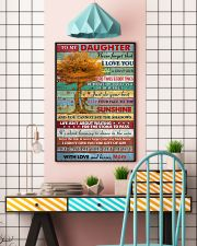 Daughter Be Brave Be Beautiful Just Do Your Best 11x17 Poster lifestyle-poster-6