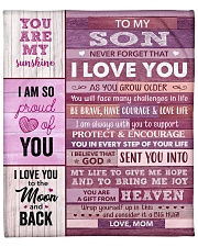 """You Are My Sunshine -  Mom To Son Fleece Blanket - 50"""" x 60"""" front"""