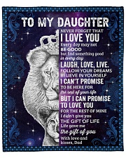 "Never Forget That I Love You Lion Dad To Daughter Fleece Blanket - 50"" x 60"" front"