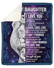 "Never Forget That I Love You Lion Dad To Daughter Sherpa Fleece Blanket - 50"" x 60"" thumbnail"