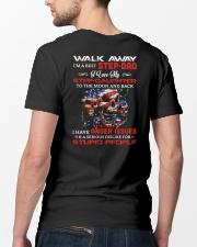 Walk Away I Am A Best Step Dad Classic T-Shirt lifestyle-mens-crewneck-back-5