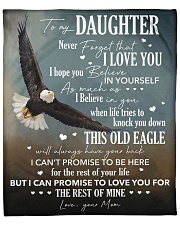 """Never Forget I Love You Eagle Mom To Daughter Fleece Blanket - 50"""" x 60"""" front"""