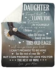 Never Forget I Love You Eagle Mom To Daughter Sherpa Fleece Blanket tile