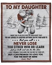 "I Want U To Believe In Your Heart Dad To Daughter Fleece Blanket - 50"" x 60"" front"
