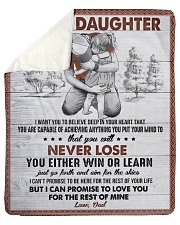 I Want U To Believe In Your Heart Dad To Daughter Sherpa Fleece Blanket tile