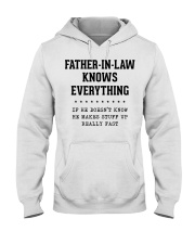 Father-In-Law Knows Everything Hooded Sweatshirt tile