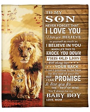 Lion Never Forget That I Love You Mom To Son Fleece Blanket tile