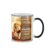 Lion Never Forget That I Love You Dad To Son Color Changing Mug tile