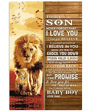 Lion Never Forget That I Love You Dad To Son Vertical Poster tile