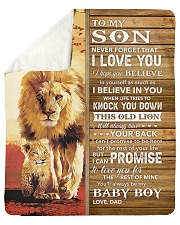 Lion Never Forget That I Love You Dad To Son Sherpa Fleece Blanket tile