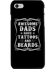 Awesome Dads Have Tattoos And Beards - For Dad Phone Case thumbnail