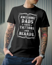 Awesome Dads Have Tattoos And Beards - For Dad Classic T-Shirt lifestyle-mens-crewneck-front-6