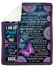 Inside This Blanket Butterfly Mom To Daughter Sherpa Fleece Blanket tile