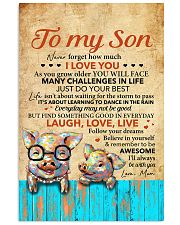 Never Forget How Much I Love U Pig Mom To Son 11x17 Poster front