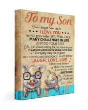 Never Forget How Much I Love U Pig Mom To Son 11x14 Gallery Wrapped Canvas Prints thumbnail