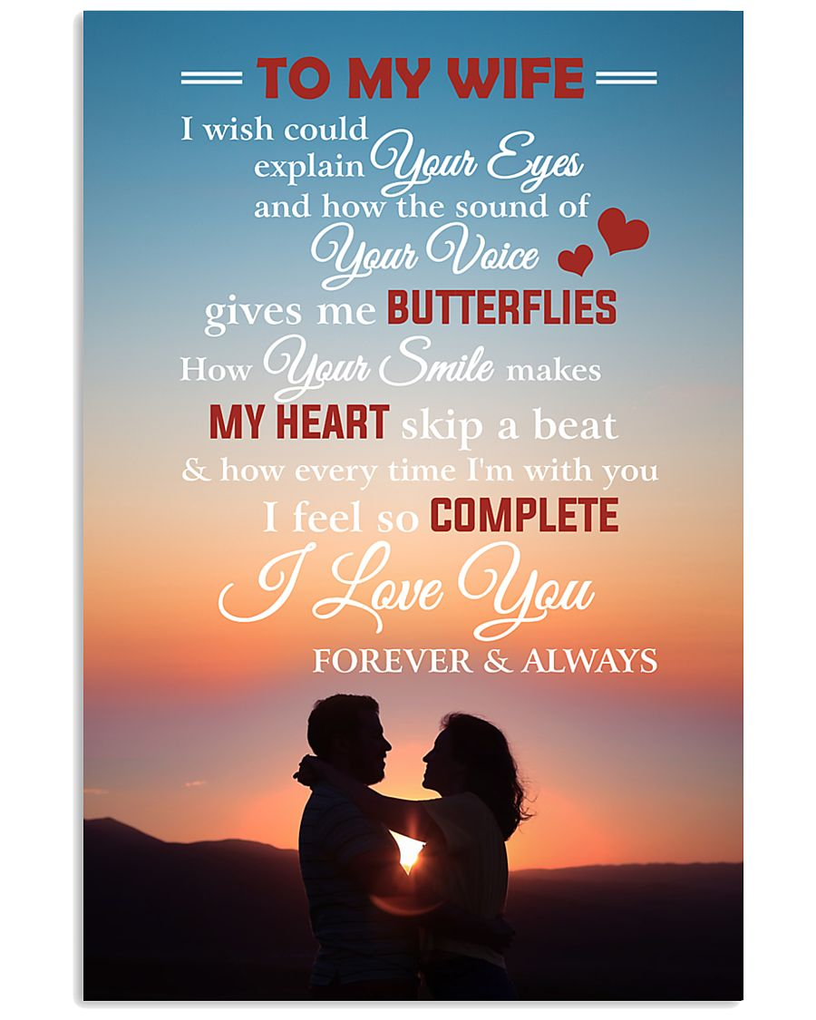 To My Wife I Love You Forever And Always 11x17 Poster