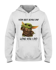 Best Bonus Dad Love You I do Hooded Sweatshirt thumbnail