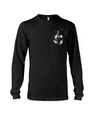 Boston Terrier Pocket Long Sleeve Tee thumbnail