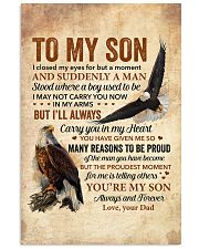 I Closed My Eyes For But A Moment Eagle Dad To Son 11x17 Poster thumbnail