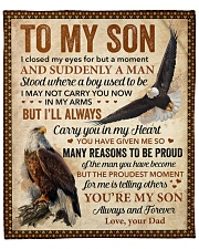 """I Closed My Eyes For But A Moment Eagle Dad To Son Fleece Blanket - 50"""" x 60"""" front"""