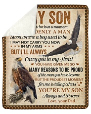 """I Closed My Eyes For But A Moment Eagle Dad To Son Sherpa Fleece Blanket - 50"""" x 60"""" thumbnail"""