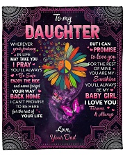 "Whenever Your Journey In Life Dad To Daughter Fleece Blanket - 50"" x 60"" front"