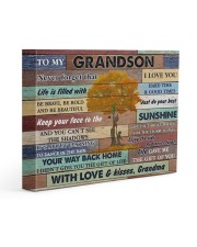 Grandson Be Brave Be Bold And Just Do Your Best 14x11 Gallery Wrapped Canvas Prints front
