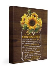 Never 4get That I Love U Grandma To Granddaughter 11x14 Gallery Wrapped Canvas Prints front